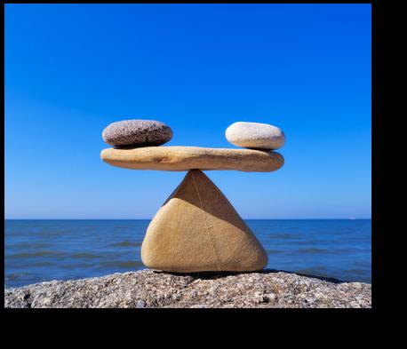 Das Gleichgewicht ist ein magischer Zustand der Kräfte