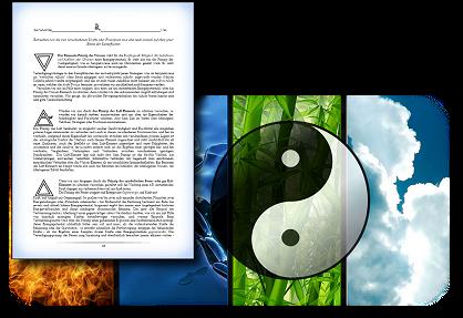 Die 2 Polaritäten (Yin & Yang) und die 4 Elemente
